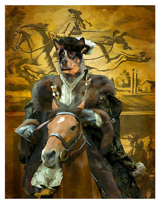 Australian Cattle Dog Art Canvas Print Poster by Sandra Sij