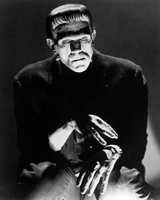 Boris Karloff In Frankenstein  Poster by Silver Screen