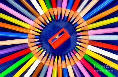 Colorful Pencils Poster by George Atsametakis