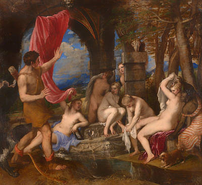Diana And Actaeon Poster by Mountain Dreams