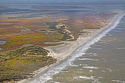 East Coast Aerial Near Jekyll Island Poster by Betsy Knapp