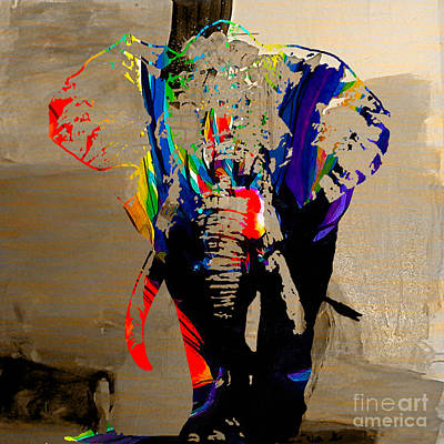 Elephant Poster by Marvin Blaine