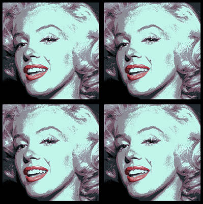 4 Frame Marilyn Pop Art Poster by Daniel Hagerman
