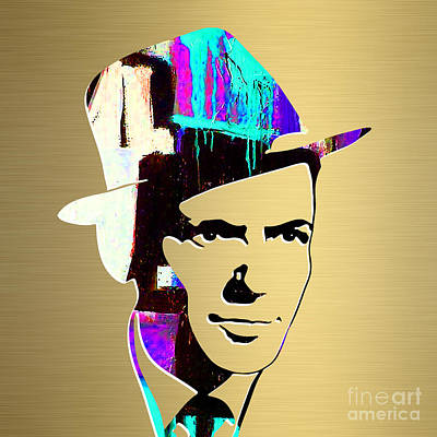 Frank Sinatra Gold Series Poster by Marvin Blaine