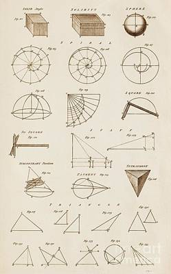 Geometrical Constructions And Principles Poster by David Parker