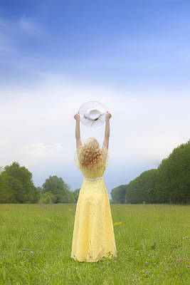 Girl On Meadow Poster by Joana Kruse