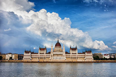 Hungarian Parliament Building In Budapest Poster by Artur Bogacki