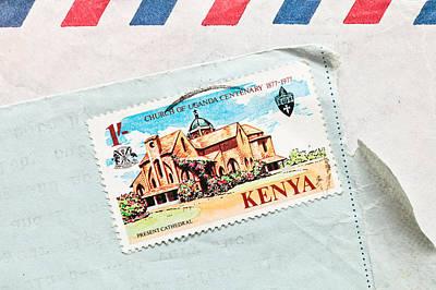 Kenya Stamp Poster by Tom Gowanlock