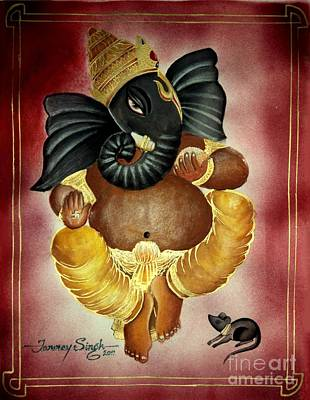 Lord Ganesha Poster by Tanmay Singh