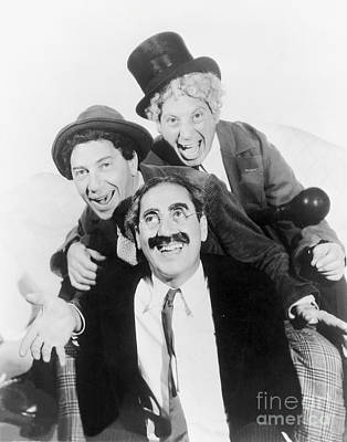 Marx Brothers - Groucho Harpo And Chico Marx Poster by MMG Archive Prints