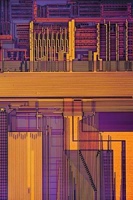 Microprocessor Components Poster by Antonio Romero