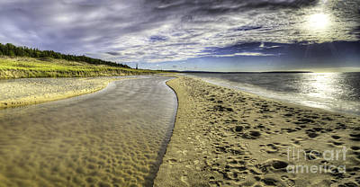 Otter Creek And Lake Michigan Poster by Twenty Two North Photography