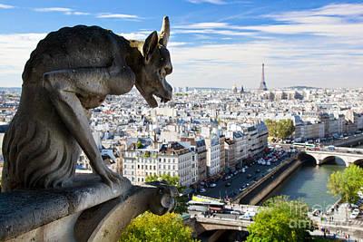 Paris Panorama France Poster by Michal Bednarek