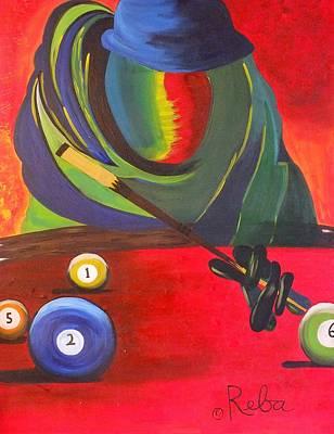 Pool Hustler Poster by Reba Baptist