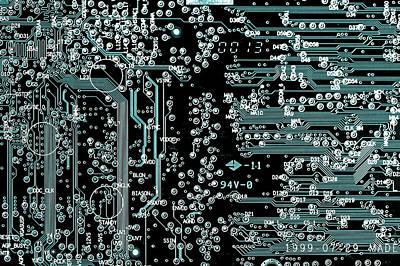 Printed Circuit Board Poster by Wladimir Bulgar