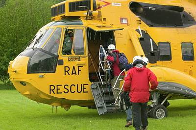 Raf Sea King Helicopter Poster by Ashley Cooper
