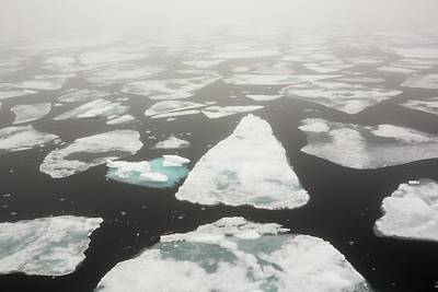 Rotten Sea Ice At Over 80 Degrees North Poster by Ashley Cooper