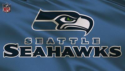 Seattle Seahawks Uniform Poster by Joe Hamilton