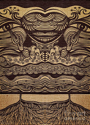 Sharpie On Cardboard Poster by HD Connelly