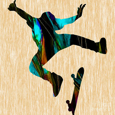 Skateboarder Poster by Marvin Blaine