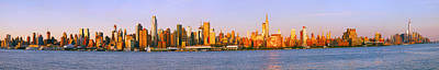 Skyscrapers At The Waterfront, Midtown Poster by Panoramic Images
