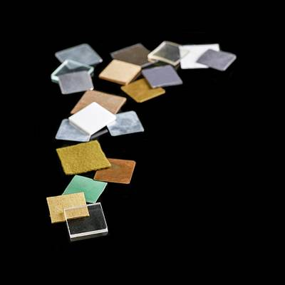Squares Of Everyday Materials Poster by Science Photo Library