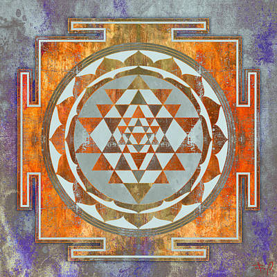 Sri Yantra Poster by Filippo B