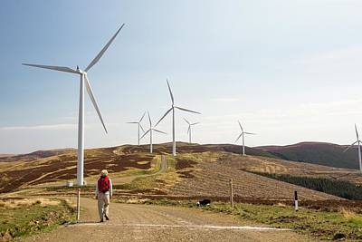 The Clyde Windfarm Poster by Ashley Cooper
