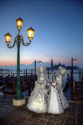 Venice, Italy Mask And Costumes Poster by Darrell Gulin