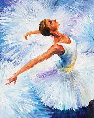 White Swan Poster by Leonid Afremov