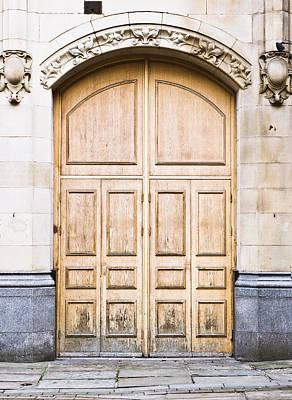 Wooden Door Poster by Tom Gowanlock