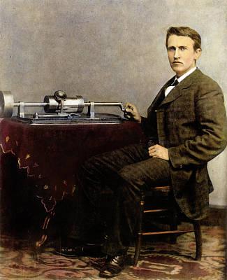 Thomas Edison (1847-1931) Poster by Granger
