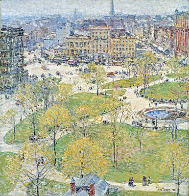 Union Square In Spring Poster by Childe Hassam