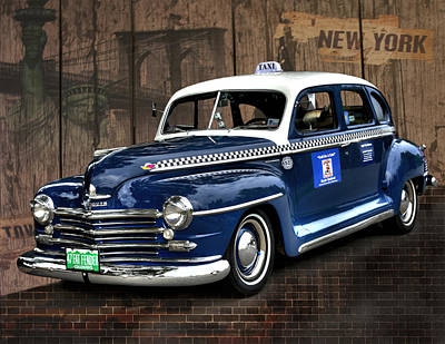 '47 Plymouth Taxicab Poster by Scott Cohen
