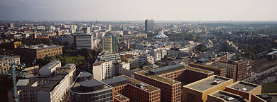 High Angle View Of Buildings In A City Poster by Panoramic Images