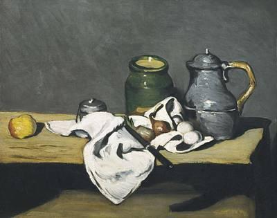 Cezanne, Paul 1839-1906. Still Life Poster by Everett