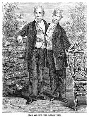 Chang And Eng (1811-1874) Poster by Granger
