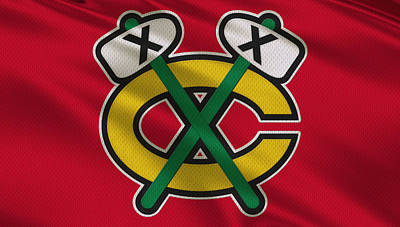 Chicago Blackhawks Uniform Poster by Joe Hamilton
