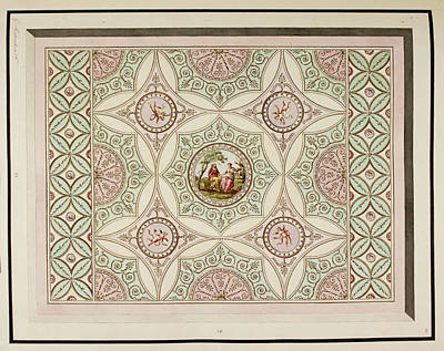 Design For A Ceiling Poster by British Library