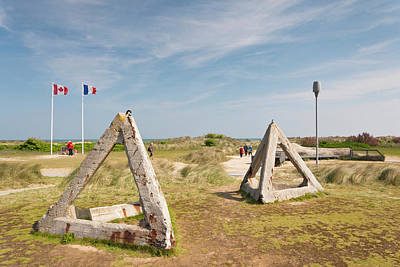 France, Normandy, D-day Beaches Area Poster by Walter Bibikow