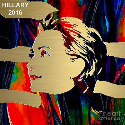 Hillary Clinton Gold Series Poster by Marvin Blaine