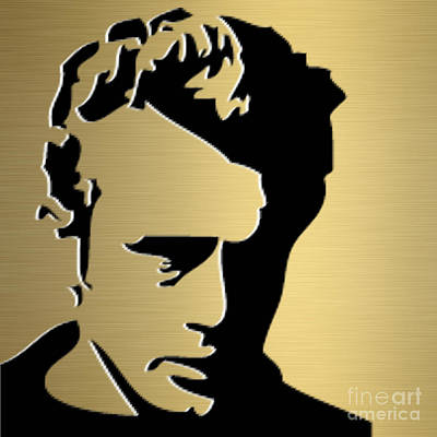 James Dean Gold Series Poster by Marvin Blaine