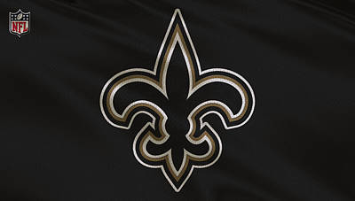 New Orleans Saints Uniform Poster by Joe Hamilton