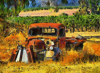 Retired Relics Poster by Barbara Snyder