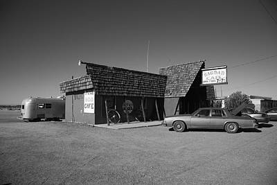 Route 66 - Bagdad Cafe Poster by Frank Romeo