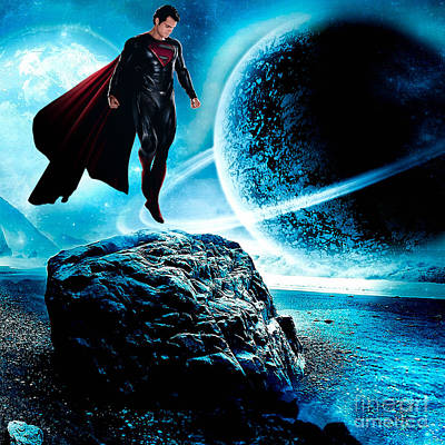 Superman Poster by Marvin Blaine