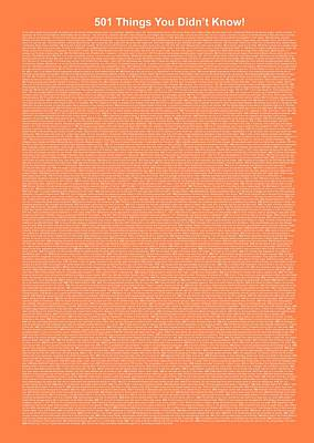 501 Things You Didn't Know - Salmon Color Poster by Pamela Johnson