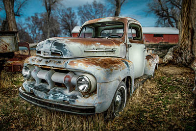 51 Ford F1 Pick-up Poster by YoPedro