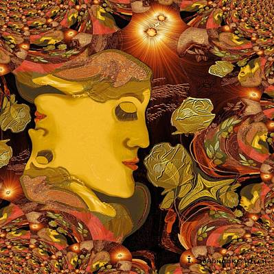 519 - Lady Fractal Poster by Irmgard Schoendorf Welch
