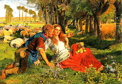 The Hireling Shepherd Poster by William Hunt